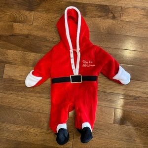 BUSTER BROWN INFANT SANTA FIRST CHRISTMAS ONESIE